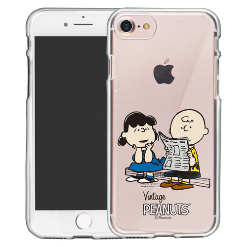 iPhone SE 2020 / iPhone 8 / iPhone 7 Case (4.7inch) PEANUTS Clear TPU Cute Soft Jelly Cover - Vivid Charlie Brown Lucy