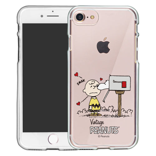 iPhone SE 2020 / iPhone 8 / iPhone 7 Case (4.7inch) PEANUTS Clear TPU Cute Soft Jelly Cover - Smack Charlie Brown Mailbox