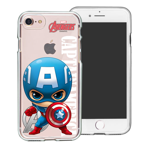 iPhone 8 Plus / iPhone 7 Plus Case Marvel Avengers Soft Jelly TPU Cover - Mini Captain America