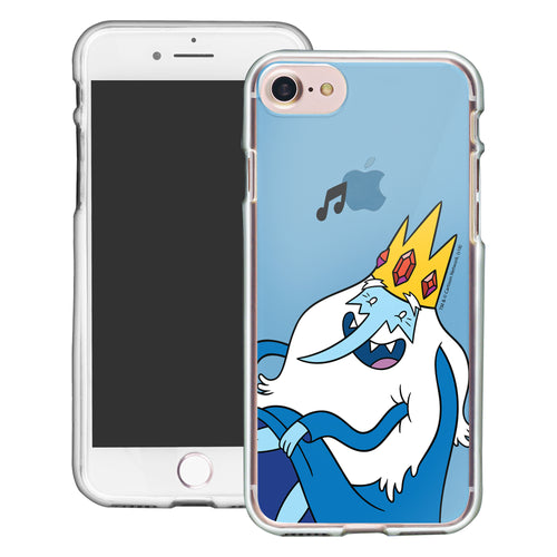 iPhone 8 Plus / iPhone 7 Plus Case Adventure Time Clear TPU Cute Soft Jelly Cover - Vivid Ice King