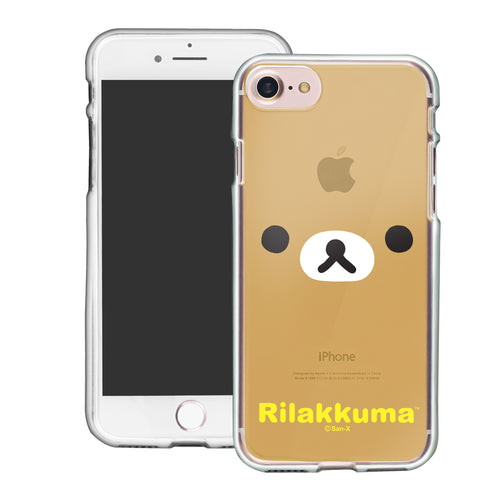 iPhone SE 2020 / iPhone 8 / iPhone 7 Case (4.7inch) Rilakkuma Clear TPU Cute Soft Jelly Cover - Face Rilakkuma