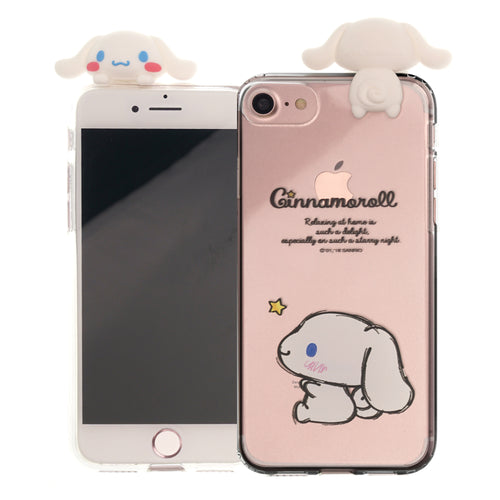 iPhone 6S / iPhone 6 Case (4.7inch) Cinnamoroll Cute Figure Doll Soft Jelly Cover for - Figure Cinnamoroll