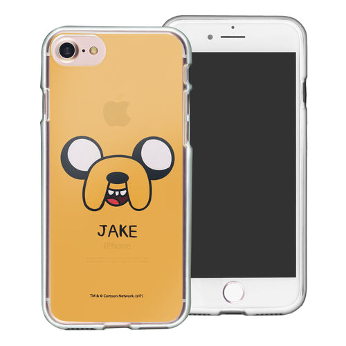 iPhone 8 Plus / iPhone 7 Plus Case Adventure Time Clear TPU Cute Soft Jelly Cover - Face Jake