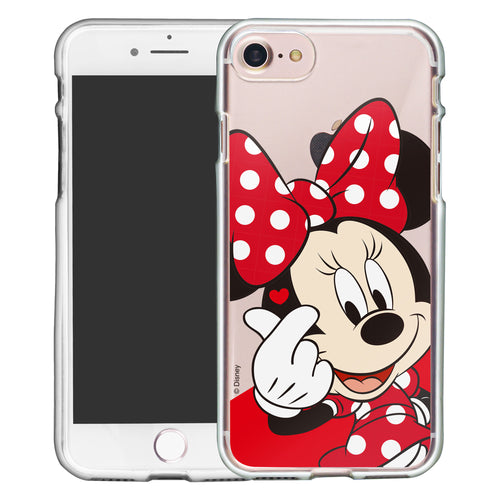 iPhone 5S / iPhone 5 / iPhone SE (2016) Case Disney Clear TPU Cute Soft Jelly Cover - Heart Minnie Mouse