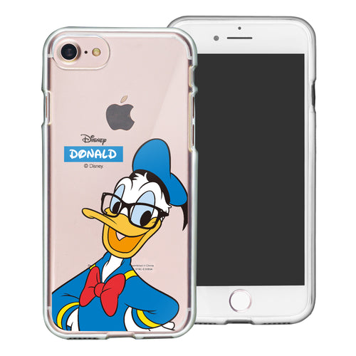iPhone 6S Plus / iPhone 6 Plus Case Disney Clear TPU Cute Soft Jelly Cover - Glasses Donald Duck