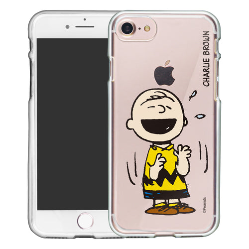 iPhone 6S / iPhone 6 Case (4.7inch) PEANUTS Clear TPU Cute Soft Jelly Cover - Smile Charlie Brown