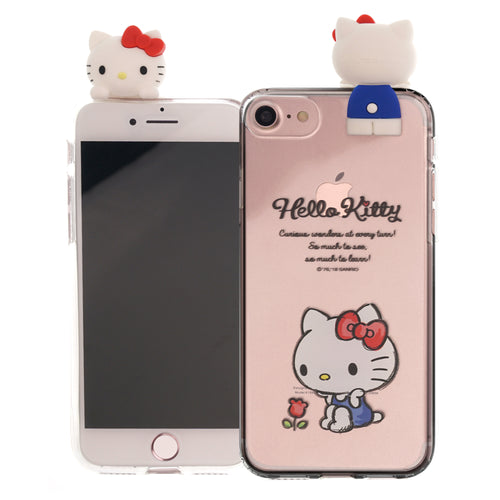 iPhone 6S / iPhone 6 Case (4.7inch) Hello Kitty Cute Figure Doll Soft Jelly Cover for - Figure Hello Kitty Sitting