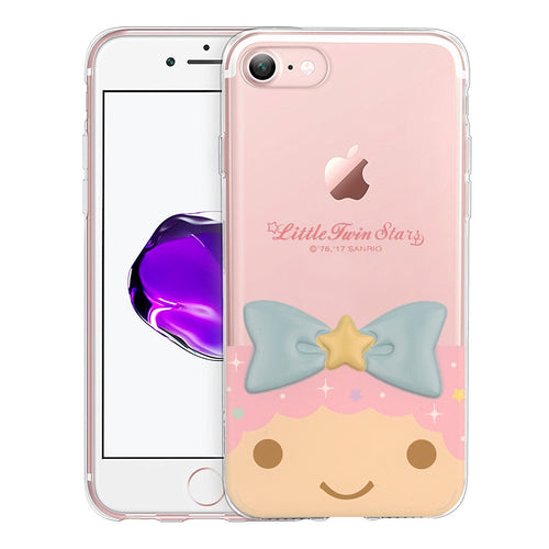 iPhone 6S / iPhone 6 Case (4.7inch) Little Twin Stars Girl Face Cute Bow Ribbon Clear Jelly Cover - Face Little Twin Stars Lala