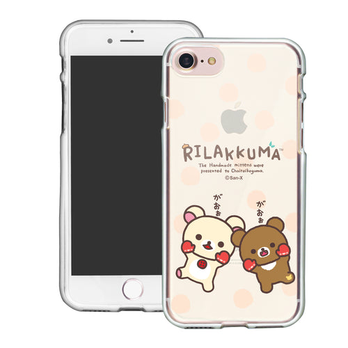 iPhone SE 2020 / iPhone 8 / iPhone 7 Case (4.7inch) Rilakkuma Clear TPU Cute Soft Jelly Cover - Chairoikoguma Jump
