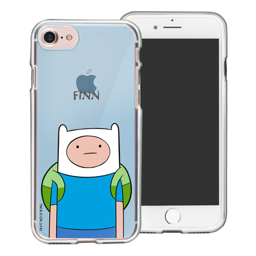 iPhone 8 Plus / iPhone 7 Plus Case Adventure Time Clear TPU Cute Soft Jelly Cover - Lovely Finn