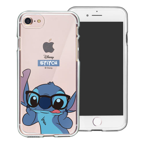 iPhone SE 2020 / iPhone 8 / iPhone 7 Case (4.7inch) Disney Clear TPU Cute Soft Jelly Cover - Glasses Stitch