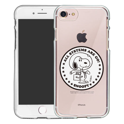 iPhone SE 2020 / iPhone 8 / iPhone 7 Case (4.7inch) PEANUTS Clear TPU Cute Soft Jelly Cover - Apollo Stamp