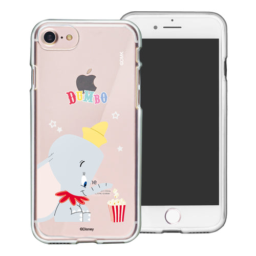 iPhone SE 2020 / iPhone 8 / iPhone 7 Case (4.7inch) Disney Clear TPU Cute Soft Jelly Cover - Dumbo Popcorn