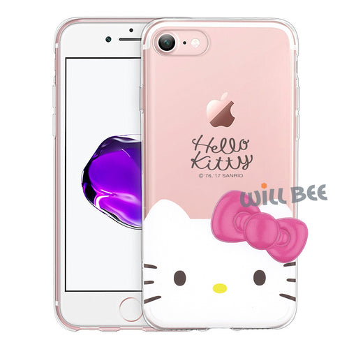 iPhone 6S / iPhone 6 Case (4.7inch) Hello Kitty Face Cute Bow Ribbon Clear Jelly Cover - Face Hello Kitty