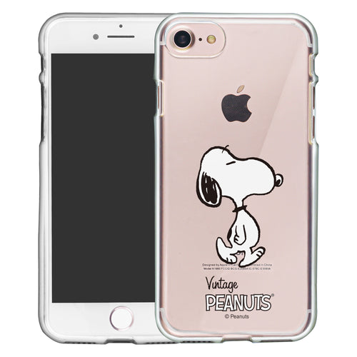 iPhone SE 2020 / iPhone 8 / iPhone 7 Case (4.7inch) PEANUTS Clear TPU Cute Soft Jelly Cover - Vivid Snoopy Walking