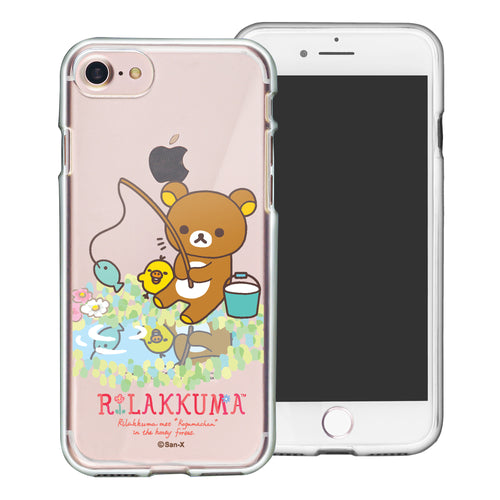iPhone SE 2020 / iPhone 8 / iPhone 7 Case (4.7inch) Rilakkuma Clear TPU Cute Soft Jelly Cover - Rilakkuma Fishing