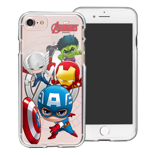iPhone 8 Plus / iPhone 7 Plus Case Marvel Avengers Soft Jelly TPU Cover - Mini Avengers