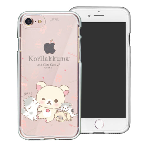 iPhone SE 2020 / iPhone 8 / iPhone 7 Case (4.7inch) Rilakkuma Clear TPU Cute Soft Jelly Cover - Korilakkuma Cat