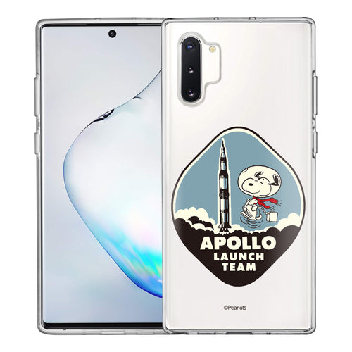 Galaxy Note10 Plus Case (6.8inch) PEANUTS Clear TPU Cute Soft Jelly Cover - Apollo Rocket