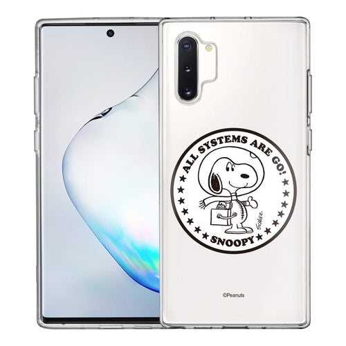 Galaxy Note10 Plus Case (6.8inch) PEANUTS Clear TPU Cute Soft Jelly Cover - Apollo Stamp