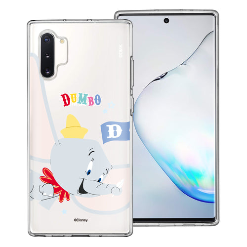 Galaxy Note10 Plus Case (6.8inch) Disney Clear TPU Cute Soft Jelly Cover - Dumbo Fly