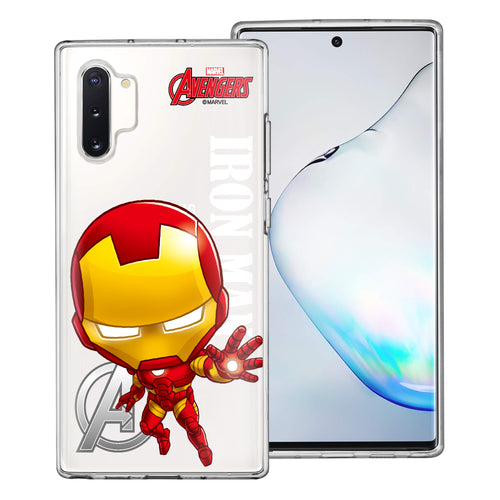 Galaxy Note10 Case (6.3inch) Marvel Avengers Soft Jelly TPU Cover - Mini Iron Man