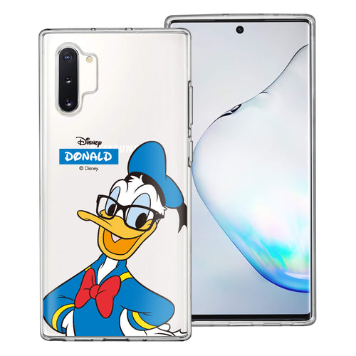Galaxy Note10 Plus Case (6.8inch) Disney Clear TPU Cute Soft Jelly Cover - Glasses Donald Duck
