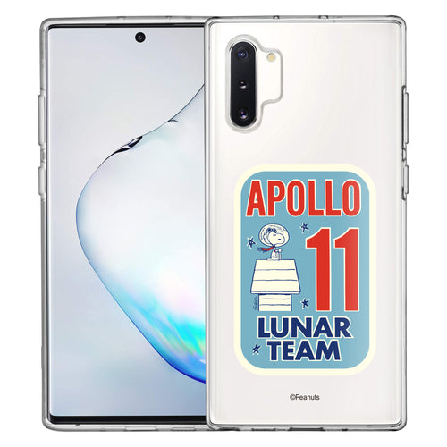 Galaxy Note10 Plus Case (6.8inch) PEANUTS Clear TPU Cute Soft Jelly Cover - Apollo 11