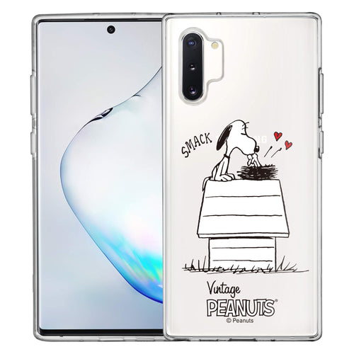 Galaxy Note10 Plus Case (6.8inch) PEANUTS Clear TPU Cute Soft Jelly Cover - Smack Snoopy Birds