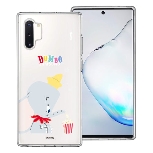Galaxy Note10 Plus Case (6.8inch) Disney Clear TPU Cute Soft Jelly Cover - Dumbo Popcorn