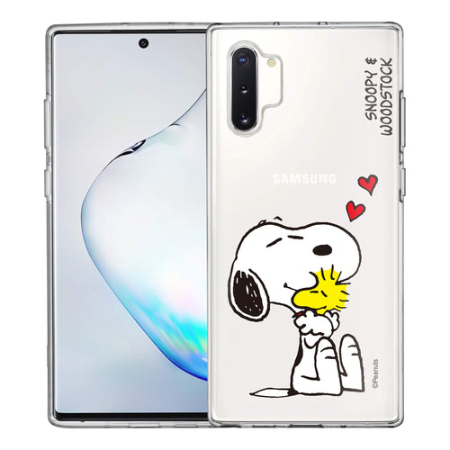 Galaxy Note10 Plus Case (6.8inch) PEANUTS Clear TPU Cute Soft Jelly Cover - Smile Snoopy