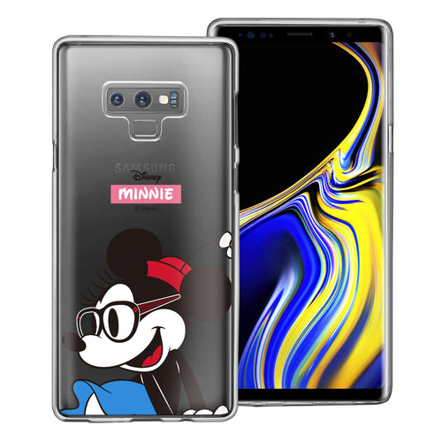 Galaxy Note9 Case Disney Clear TPU Cute Soft Jelly Cover - Glasses Minnie Mouse