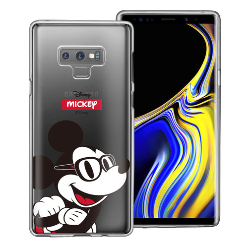 Galaxy Note9 Case Disney Clear TPU Cute Soft Jelly Cover - Glasses Mickey Mouse