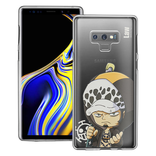 Galaxy Note9 Case ONE PIECE Clear TPU Cute Soft Jelly Cover - Mini Law