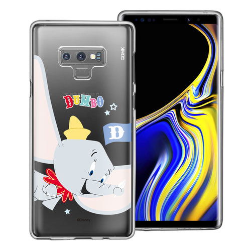 Galaxy Note9 Case Disney Clear TPU Cute Soft Jelly Cover - Dumbo Fly
