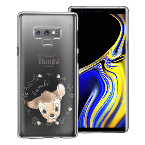 Galaxy Note9 Case Disney Clear TPU Cute Soft Jelly Cover - Face Bambi