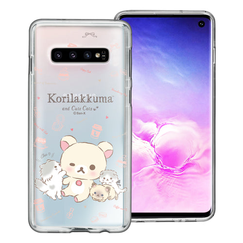 Galaxy S10e Case (5.8inch) Rilakkuma Clear TPU Cute Soft Jelly Cover - Korilakkuma Cat