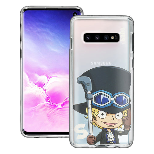 Galaxy S10 Plus Case (6.4inch) ONE PIECE Clear TPU Cute Soft Jelly Cover - Mini Sabo