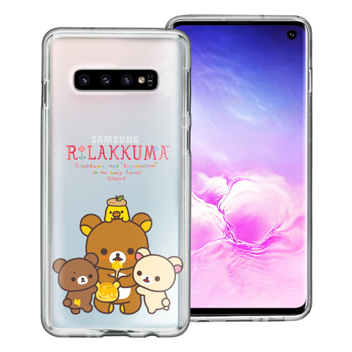 Galaxy S10e Case (5.8inch) Rilakkuma Clear TPU Cute Soft Jelly Cover - Rilakkuma Honey