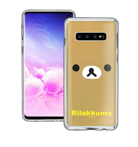 Galaxy S10e Case (5.8inch) Rilakkuma Clear TPU Cute Soft Jelly Cover - Face Rilakkuma