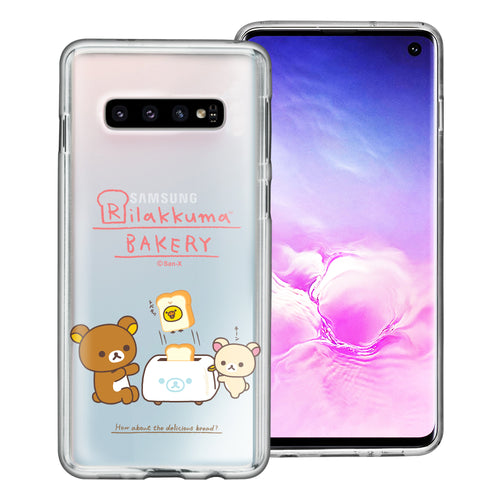Galaxy S10e Case (5.8inch) Rilakkuma Clear TPU Cute Soft Jelly Cover - Rilakkuma Toast