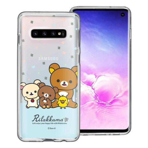 Galaxy S10e Case (5.8inch) Rilakkuma Clear TPU Cute Soft Jelly Cover - Rilakkuma Friends