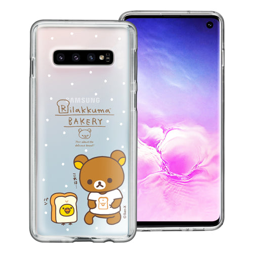 Galaxy S10e Case (5.8inch) Rilakkuma Clear TPU Cute Soft Jelly Cover - Rilakkuma Bread