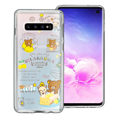 Galaxy S10e Case (5.8inch) Rilakkuma Clear TPU Cute Soft Jelly Cover - Rilakkuma Cooking