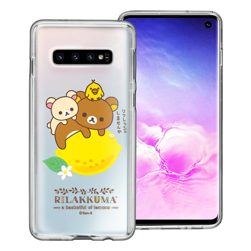 Galaxy S10e Case (5.8inch) Rilakkuma Clear TPU Cute Soft Jelly Cover - Rilakkuma Lemon
