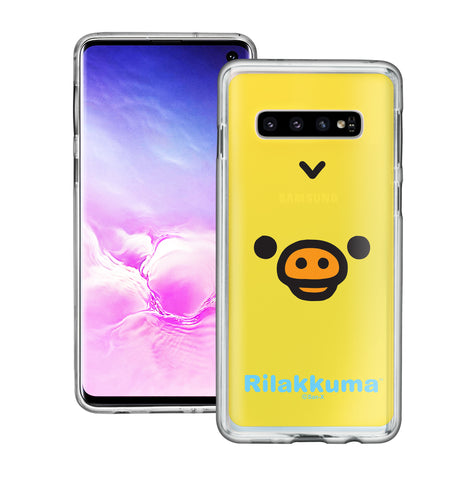 Galaxy S10e Case (5.8inch) Rilakkuma Clear TPU Cute Soft Jelly Cover - Face Kiiroitori