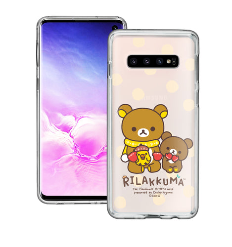 Galaxy S10e Case (5.8inch) Rilakkuma Clear TPU Cute Soft Jelly Cover - Chairoikoguma Sit
