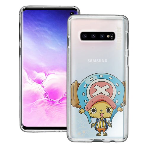 Galaxy S10 Plus Case (6.4inch) ONE PIECE Clear TPU Cute Soft Jelly Cover - Mini Chopper