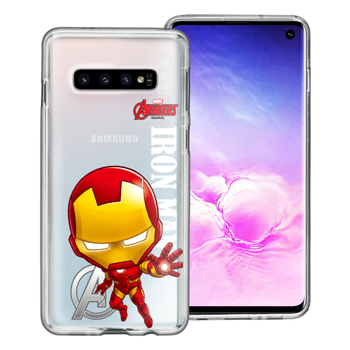 Galaxy S10 Plus Case (6.4inch) Marvel Avengers Soft Jelly TPU Cover - Mini Iron Man