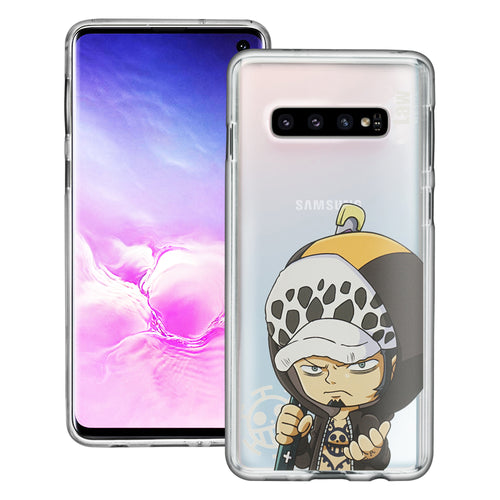 Galaxy S10 5G Case (6.7inch) ONE PIECE Clear TPU Cute Soft Jelly Cover - Mini Law